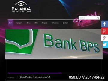 Zrzut strony Balanda - pylony