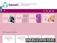 Miniaturka www.banati.pl (Sklep internetowy z odzieżą kosmetyczną i spa)