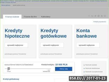Zrzut strony Konto internetowe, banki online, kredyty