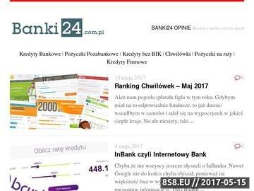 Zrzut strony Przegląd ofert finansowych w sieci