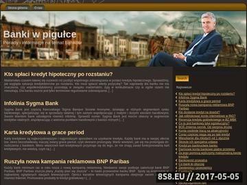 Zrzut strony Blog o bankach i finansach