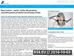 Miniaturka baza-lekow.com.pl (Opinie o lekach, wskazania, dawkowanie i skład)
