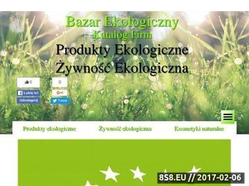 Zrzut strony Portal Bazar Ekologiczny to baza firm oferujących eko produkty