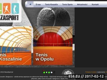 Zrzut strony Korty tenisowe - korty Opole oraz szkółki tenisowe