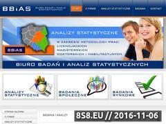 Miniaturka www.bbias.com.pl (Analizy statystyczne ankiet Rzeszów)