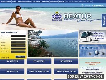 Zrzut strony Sylwester obozy wczasy zielone szkoły wynajem autokarów bilety lotnicze BEATUR