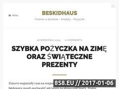 Miniaturka domeny www.beskidhaus.pl