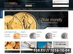 Miniaturka www.bessergold.pl (Srebro inwestycyjne - Bessergold)