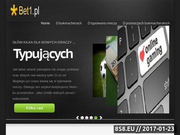 Zrzut strony Zakłady Bukmacherskie