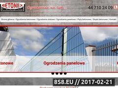 Miniaturka domeny www.betonex-ogrodzenia.pl