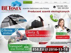 Miniaturka betonex.com.pl (Czujnik poziomu szamba)