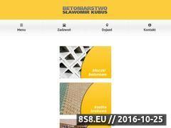 Miniaturka domeny betoniarnia-kubus.pl