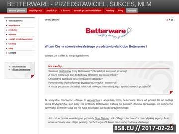 Zrzut strony Betterware - przedstawiciel, sukces, MLM
