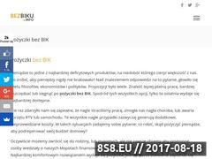 Miniaturka bezbiku.info (Portal bezbiku.info oferuje pożyczki i kredyty)