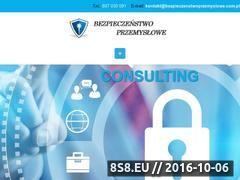 Miniaturka www.bezpieczenstwoprzemyslowe.com.pl (Ochrona danych osobowych i ochrona informacji)