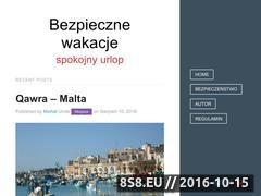 Miniaturka bezpiecznewakacje.info.pl (Pomysły na spokojny i bezpiecznie spędzony urlop)