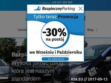 Zrzut strony Parking Modlin