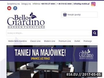 Zrzut strony Bello Giardino - ekskluzywne meble ogrodowe eko rattanowe