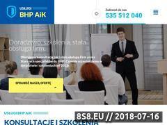 Miniaturka bhp-gorzow.com.pl (Usługi BHP Gorzów)