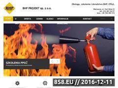 Miniaturka domeny www.bhpprojekt.pl