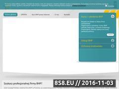 Miniaturka domeny www.bhpstrefa.pl