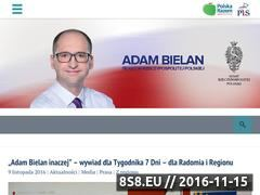 Miniaturka bielan.pl (Adam Bielan - Poseł do Parlamentu Europejskiego)