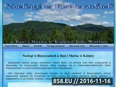 Miniaturka domeny www.bieszczadynoclegi.cba.pl