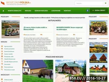 Zrzut strony Domki Bieszczady