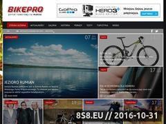 Miniaturka www.bikepro.pl (Strona oferuje porady odnośnie jazdy na rowerze)