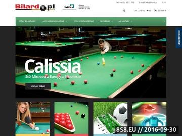 Zrzut strony Stoły bilardowe, piłkarzyki, dart - sklep internetowy