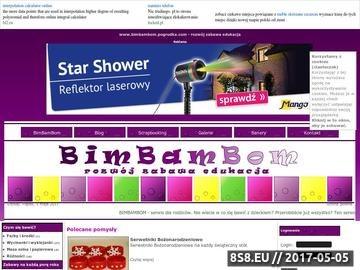 Zrzut strony BIMBAMBOM - rozwój zabawa edukacja