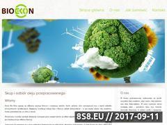 Miniaturka www.bio-ekon.pl (Skup oleju)