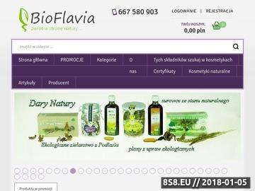 Zrzut strony Bioflavia - naturalne krem do twarzy