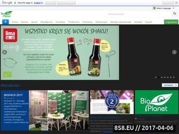 Zrzut strony Bio Planet - zdrowa żywność, żywność ekologiczna
