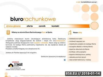 Zrzut strony Biuro Rachunkowe Euro w Opolu- serdecznie