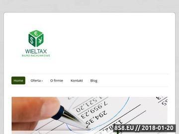 Zrzut strony Biuro rachunkowe w Wieliczce
