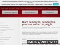 Miniaturka domeny www.biuro-tlumaczen.tv