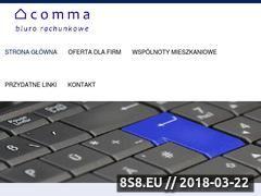 Miniaturka biurocomma.pl (Biuro rachunkowe Słupsk)