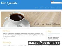 Miniaturka domeny www.biurokorekty.pl