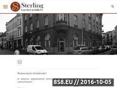 Miniaturka domeny www.biurorachunkowesterling.pl