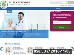 Miniaturka domeny www.bliscyzdrowiu.pl