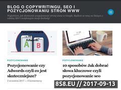 Miniaturka domeny blog.copywriterexpert.pl