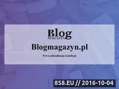 Miniaturka blogmagazyn.pl (Blog magazyn - baza wiedzy i katalog blogów)