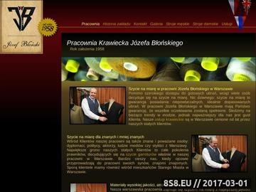 Zrzut strony Usługi Krawieckie - Krawiec Józef Błoński, Warszawa Piwna 6