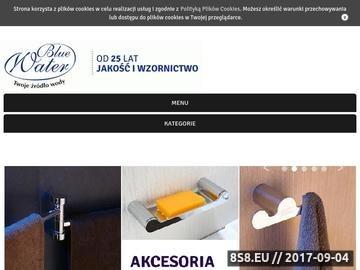 Zrzut strony Producent akcesorii łazienkowych i kuchennych - Bluewater