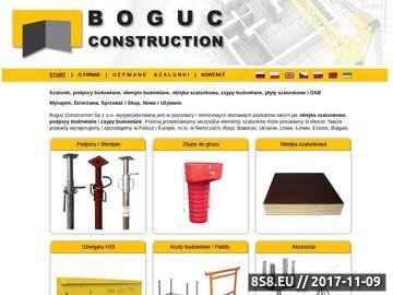 Zrzut strony Stemple ocynkowane, podpory budowlane, płyty szalunkowe
