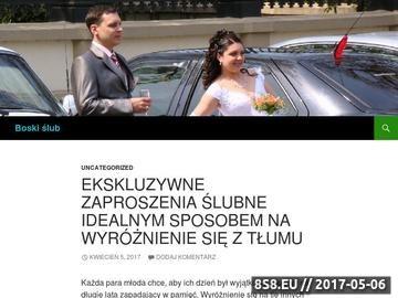 Zrzut strony Wortal Śubny - boskislub.pl