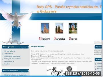 Zrzut strony Boży GPS - Parafia Trójcy Świętej. Głubczyn, Paruszka, Skórka