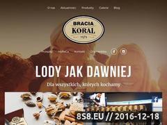 Miniaturka braciakoral.pl (Wytwórnia lodów Bracia Koral)