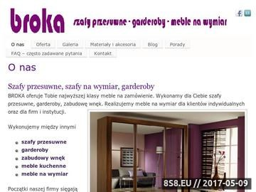 Zrzut strony Broka - szafy przesuwne, szafy wnękowe, garderoby - meble na wymiar Kraków